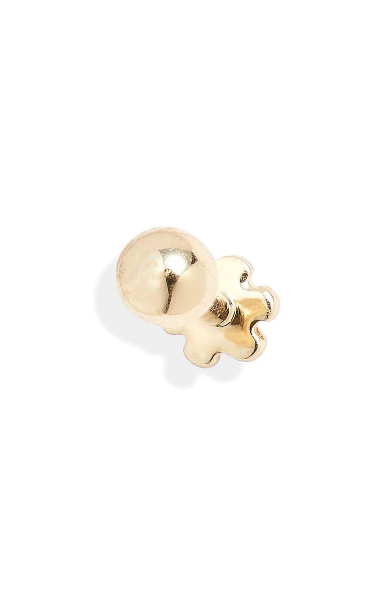 MARIA TASH Ball Threaded Stud Earring, Main, color, YELLOW GOLD