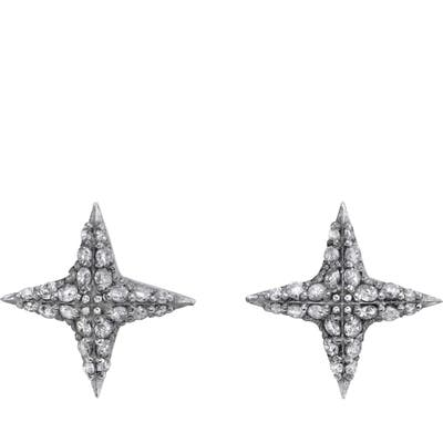 Sheryl Lowe Diamond Star Stud Earrings