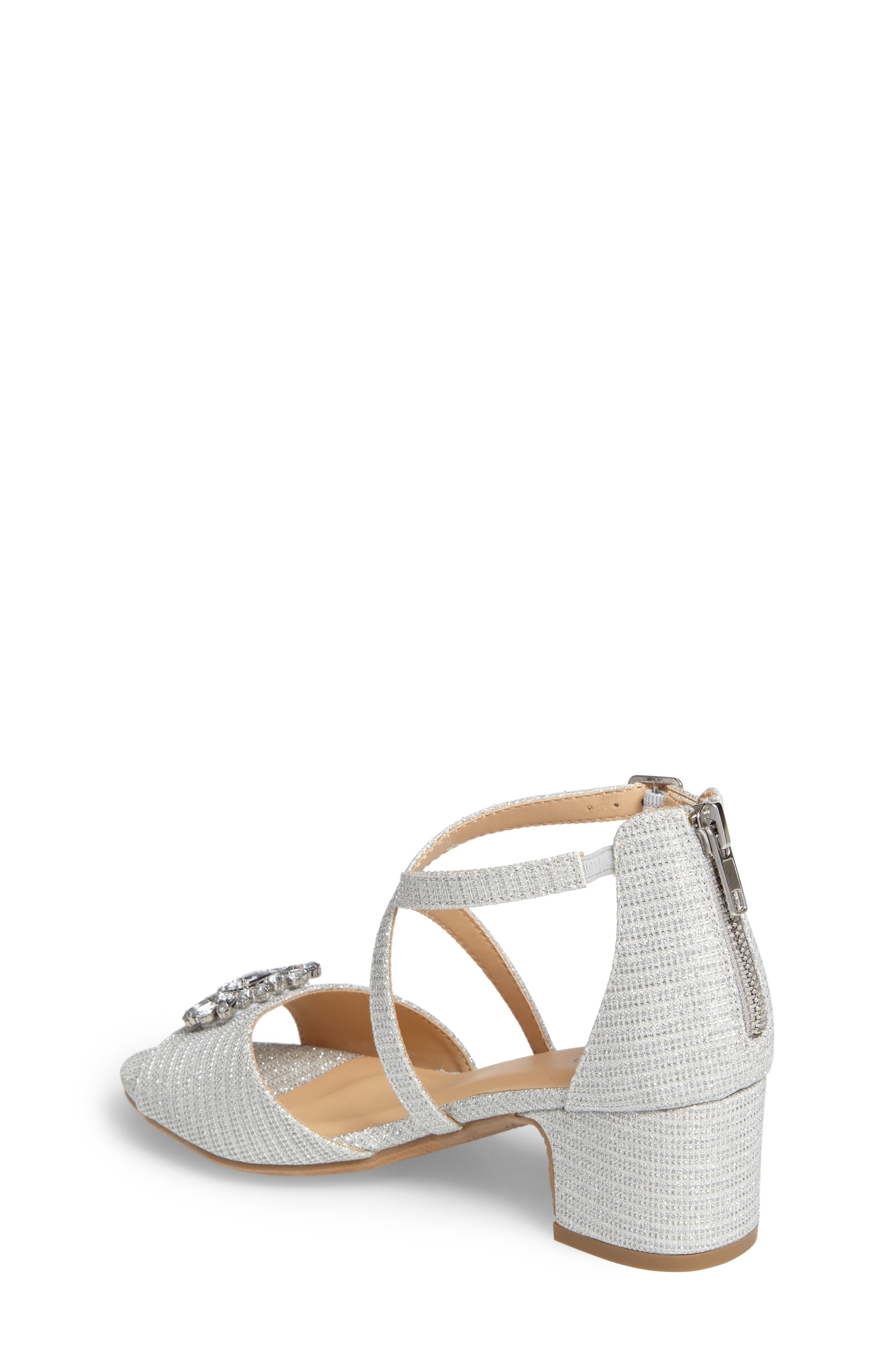 ,                             Badgley Mischka Pernia Gems Sandal,                             Alternate thumbnail 2, color,                             WHITE