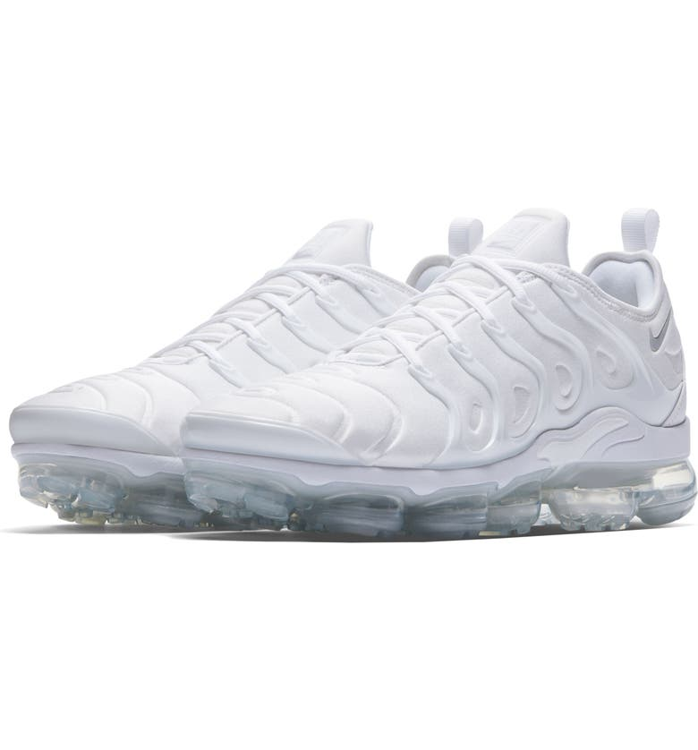 NIKE Air VaporMax Plus Sneaker, Main, color, WHITE/ WHITE/ PURE PLATINUM