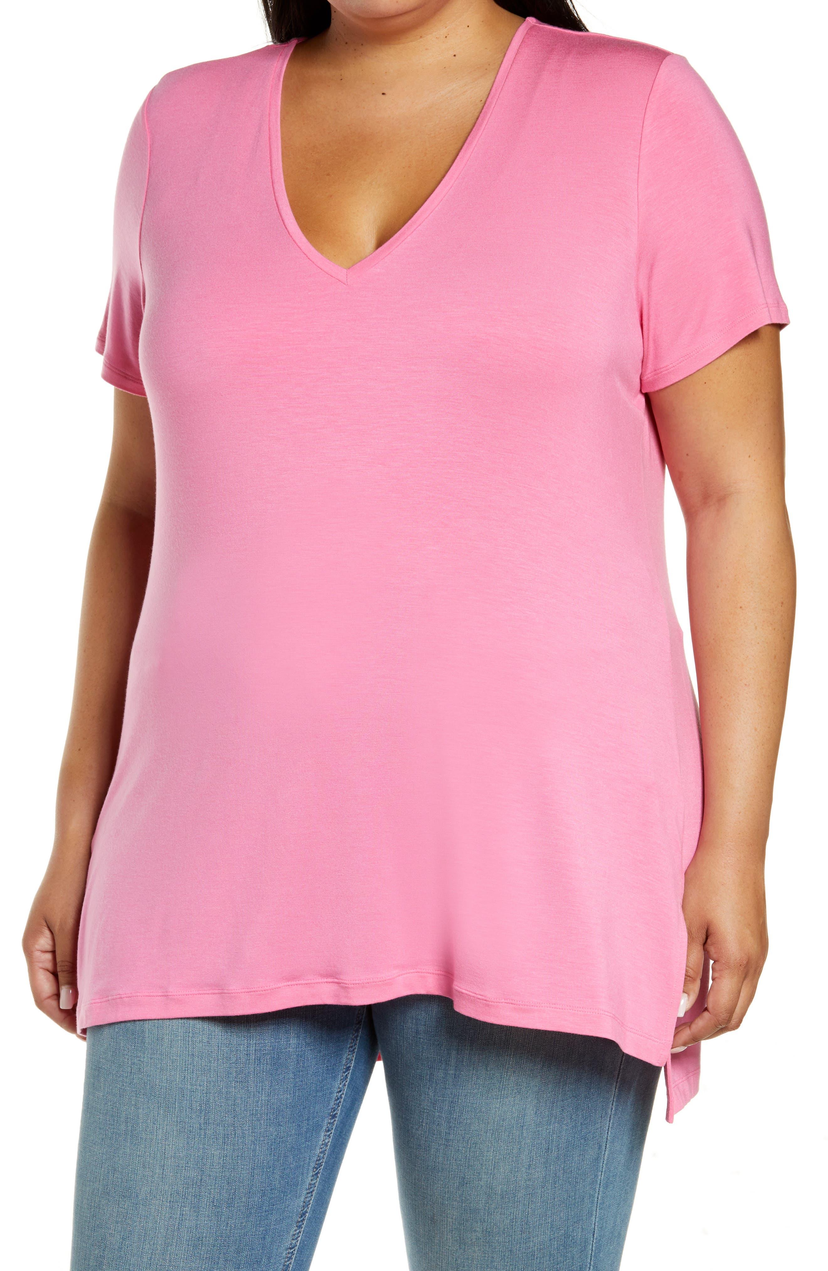Plus Size Women's Halogen V-Neck T-Shirt