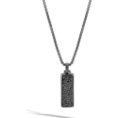 John Hardy Classic Chain Black Sapphire Pendant Necklace