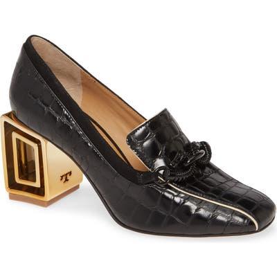 Tory Burch Jessa Hardware Heel Pump- Black