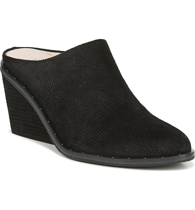 DR. SCHOLL'S Dr. Scholls Maxwell Mule, Main, color, BLACK LINEAR EMBOSSED SUEDE