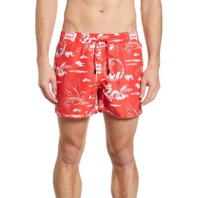 Nikben Stranger Swim Trunks, Red