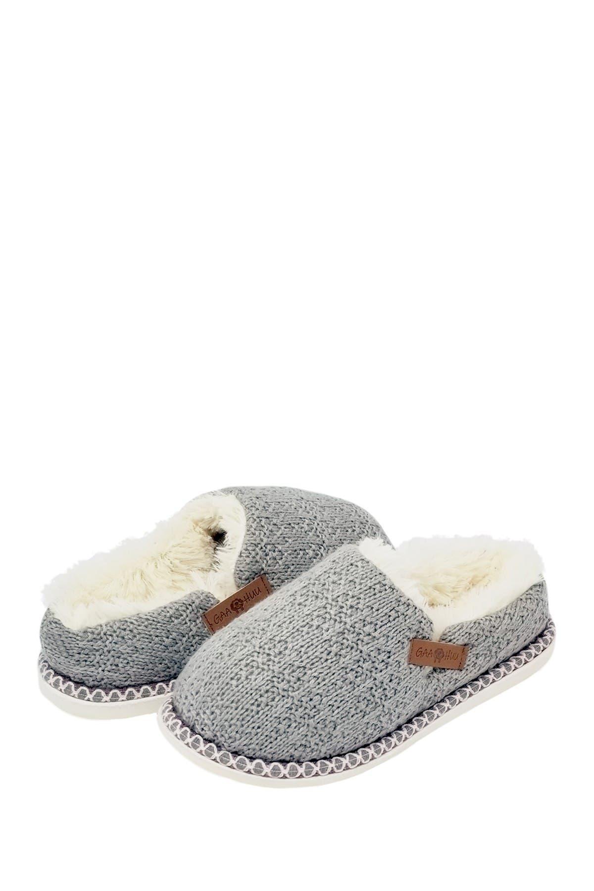 Image of GAAHUU Textured Knit Clog Slipper