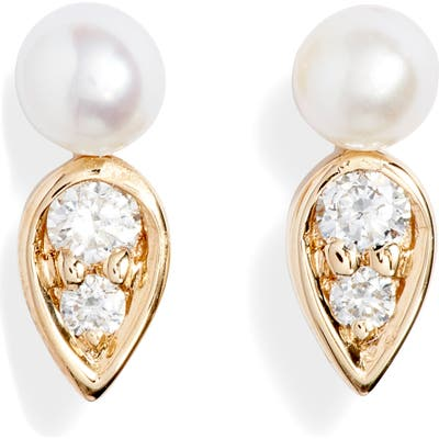 Dana Rebecca Designs Pearl Ivy Petal Stud Earrings