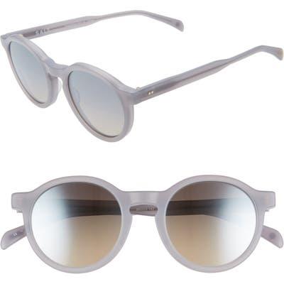 Salt. Francine 50Mm Polarized Round Sunglasses - Matte Lilac Marble