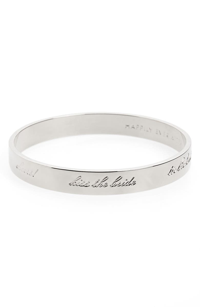 KATE SPADE NEW YORK 'idiom - happily ever after' bangle, Main, color, 040