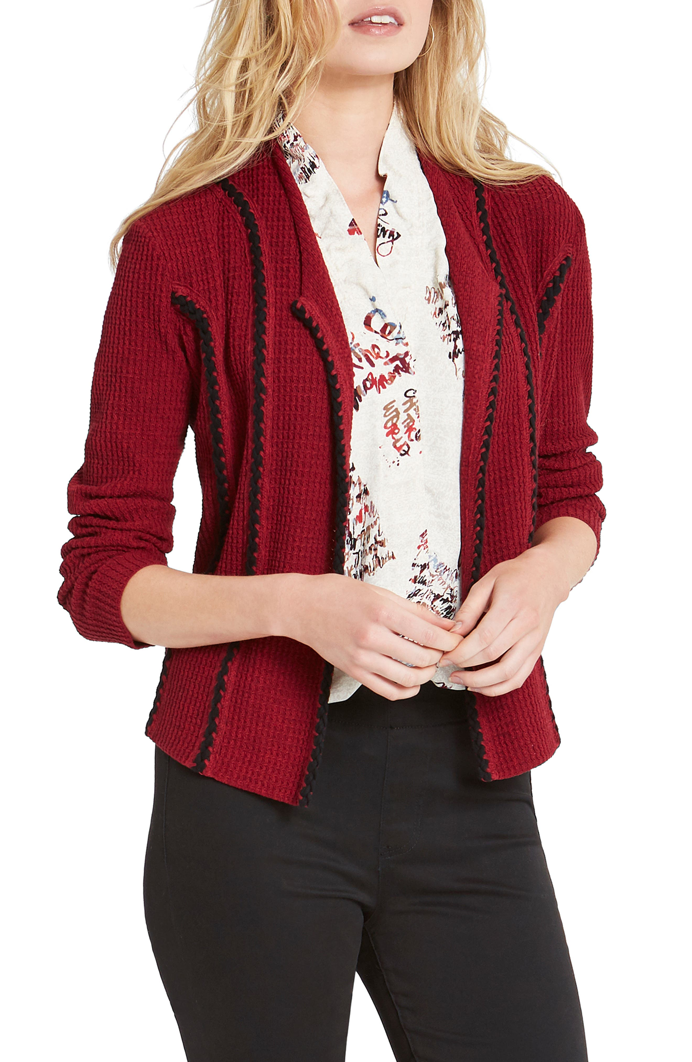 A cozy cotton-blend knit makes this smart fitted jacket a comfortable yet polished fall layer. Style Name: Nic + Zoe Cafe Jacket. Style Number: 6098671. Available in stores.