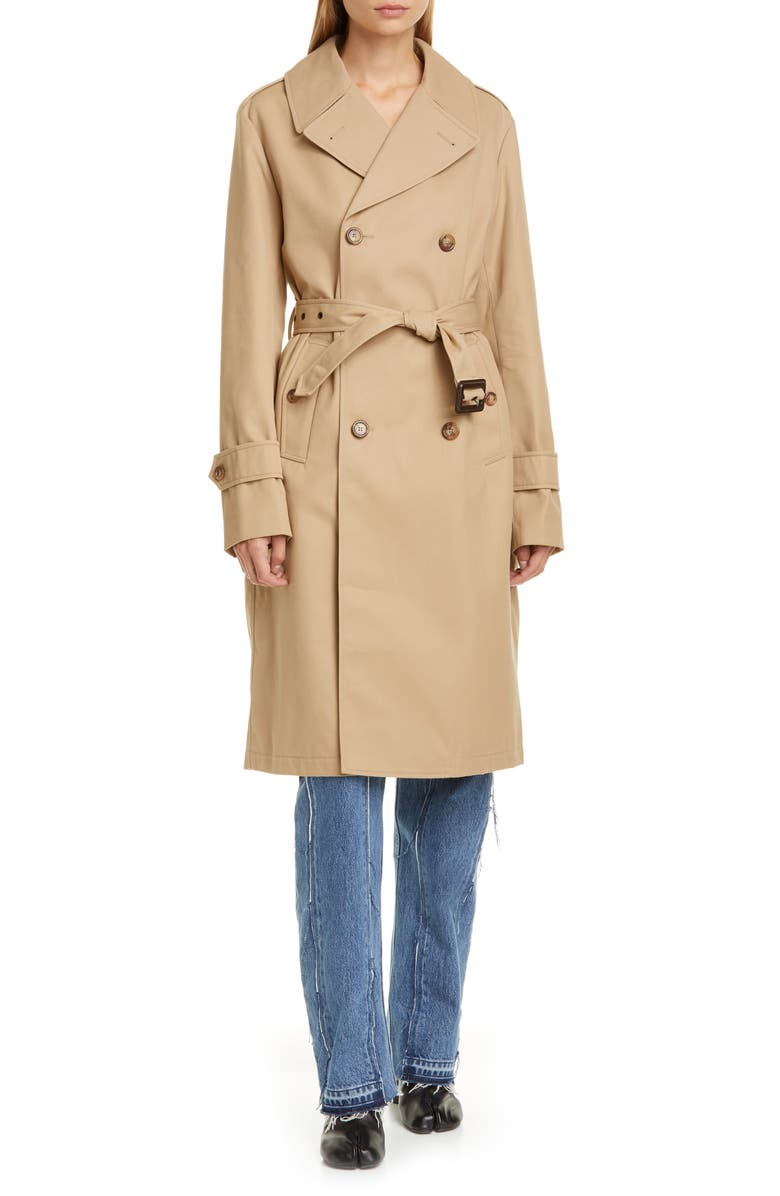 MAISON MARGIELA Trench Coat, Main, color, CAMEL