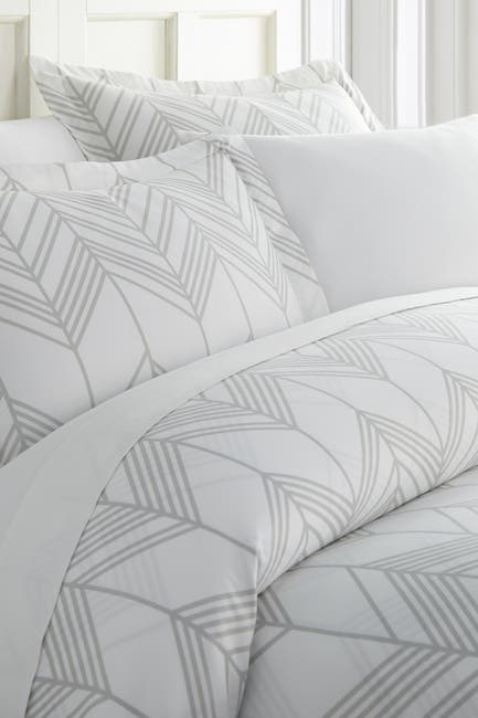 Image of IENJOY HOME Enhance And Improve Your Bedroom 3-Piece Duvet Cover Set - Light Gray - King