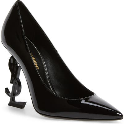 Saint Laurent Opyum Ysl Pointy Toe Pump - Black