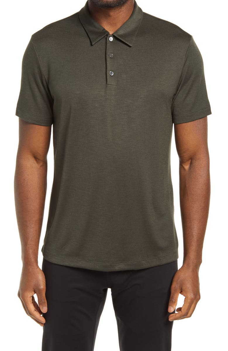 THEORY Bron C Anemone Polo, Main, color, GROVE