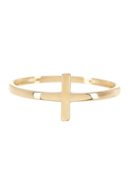 Image of KARAT RUSH 14K Yellow Gold Cross Ring