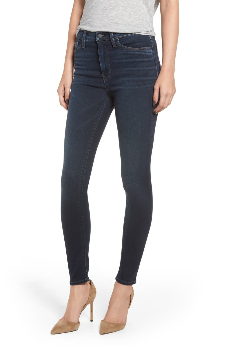 HUDSON JEANS Barbara High Waist Super Skinny Jeans, Main, color, DOWN N OUT