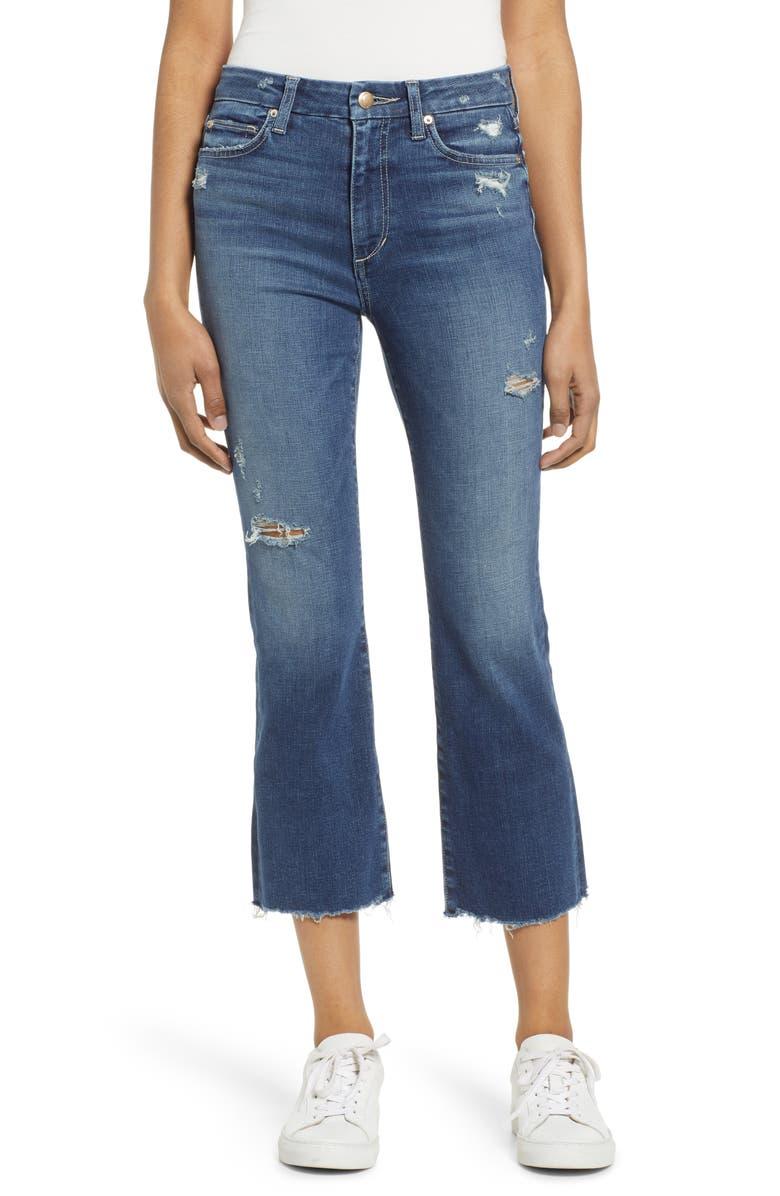 JOE'S The Hi Honey High Waist Distressed Raw Crop Bootcut Jeans, Main, color, DEANNA