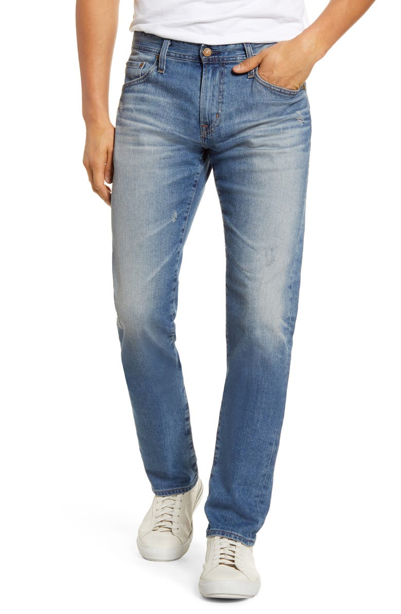 AG Tellis Slim Fit Jeans, Main, color, 18 YEARS PIETRO
