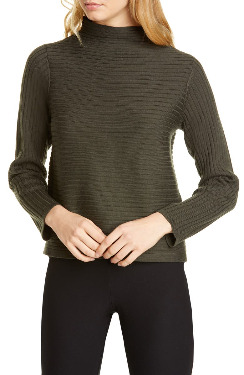 EILEEN FISHER Rib Merino Wool Sweater, Main, color, 258