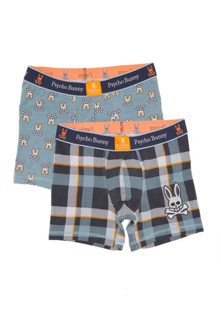 Image of Psycho Bunny Boxed Gift Stretch Cotton Boxer Briefs - Pack of 2