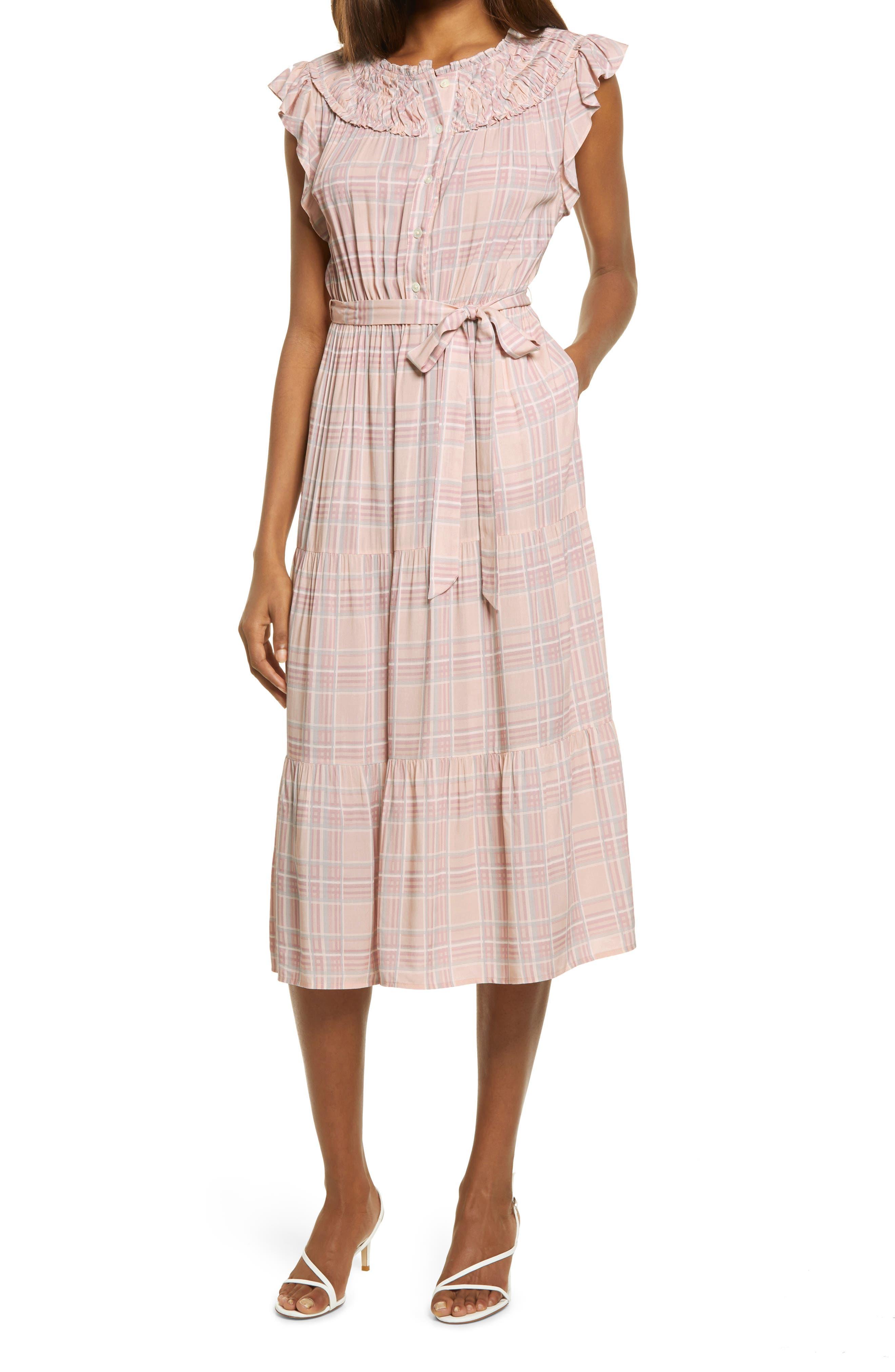 Plaid Ruched Dress