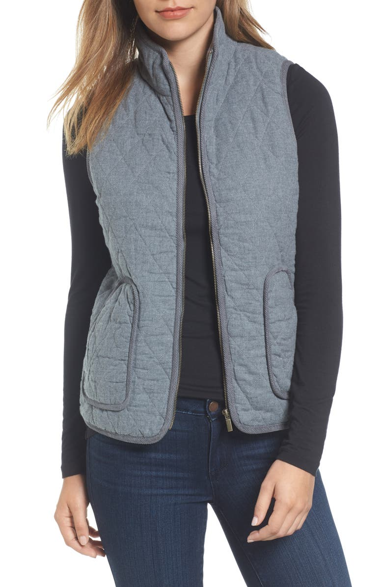 CASLON<SUP>®</SUP> Quilted Vest, Main, color, 020