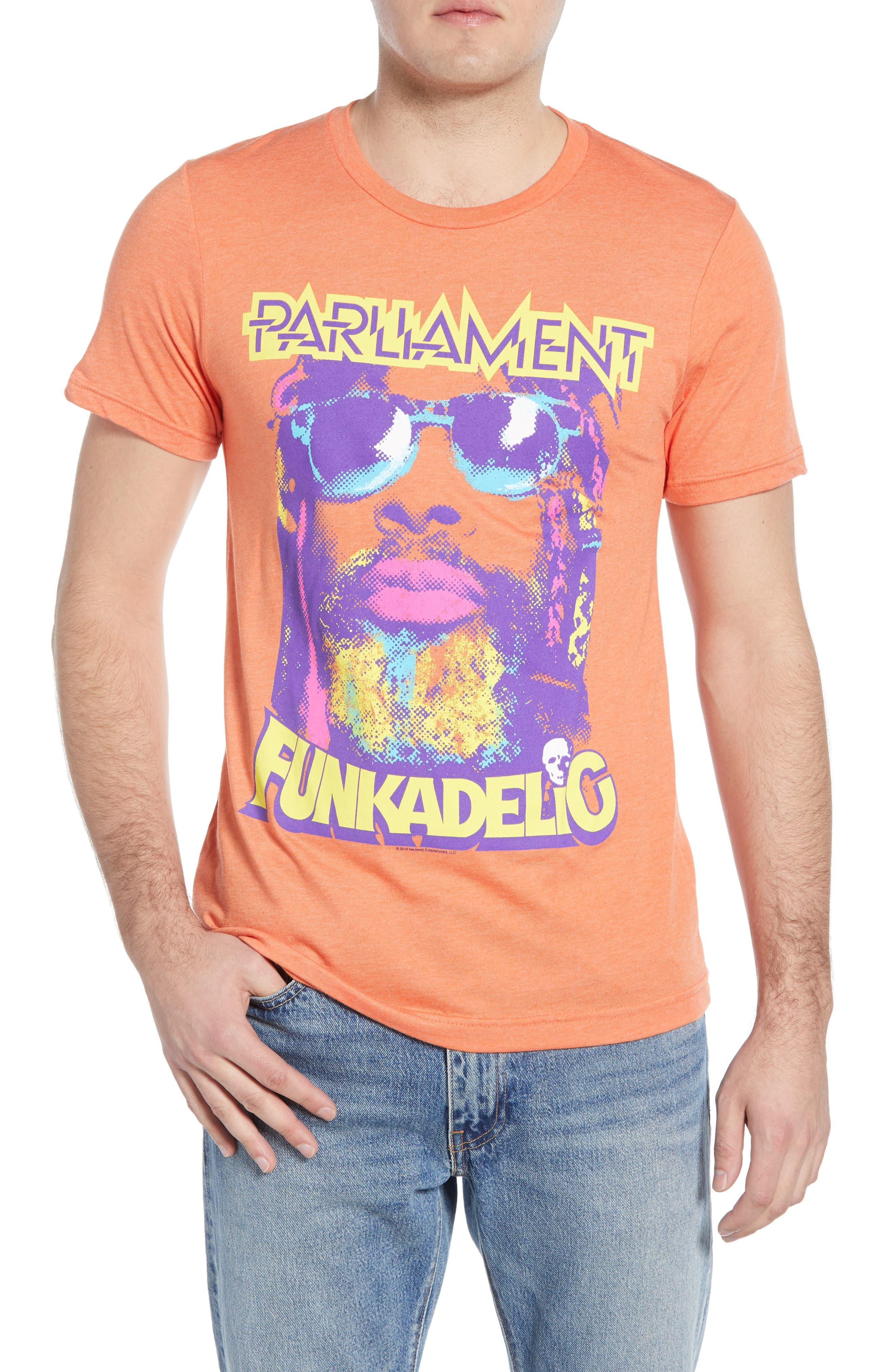 Impact Merchandising Parliament Funkadelic Graphic T-Shirt, Orange