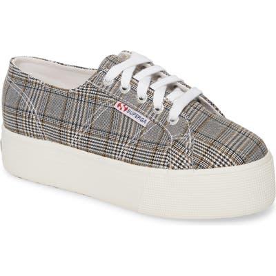 Superga 2790 British Platform Sneaker - Grey