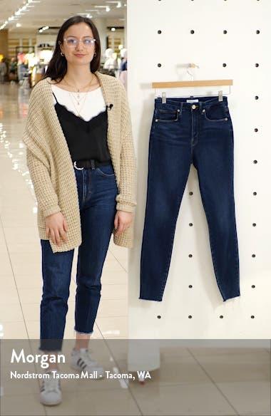 Good Waist High Waist Fray Hem Ankle Skinny Jeans, sales video thumbnail