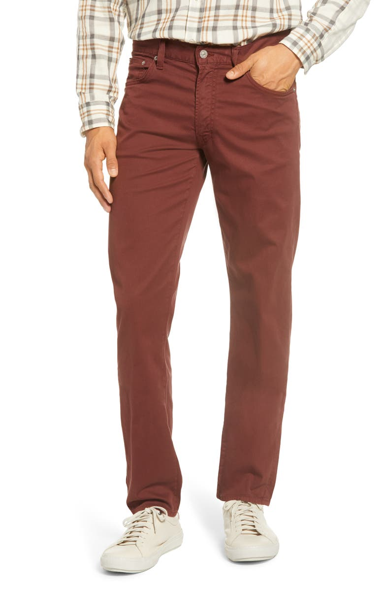 CITIZENS OF HUMANITY Luxury Bowery Slim Fit Twill Pants, Main, color, REDWOOD