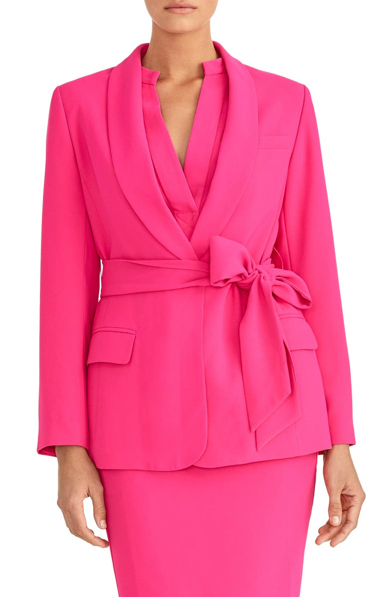 RACHEL ROY COLLECTION Shawl Wrap Blazer, Main, color, PASSION PINK