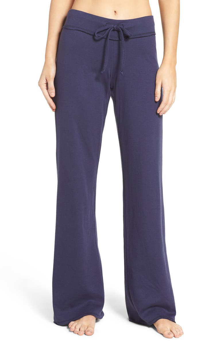 NORDSTROM LINGERIE Lazy Mornings Lounge Pants, Main, color, NAVY PEACOAT