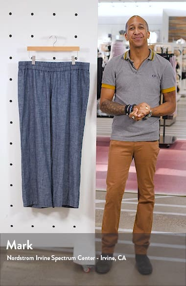 Straight Leg Chambray Pants, sales video thumbnail