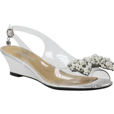J. Renee Charmese Embellished Slingback Sandal, Metallic