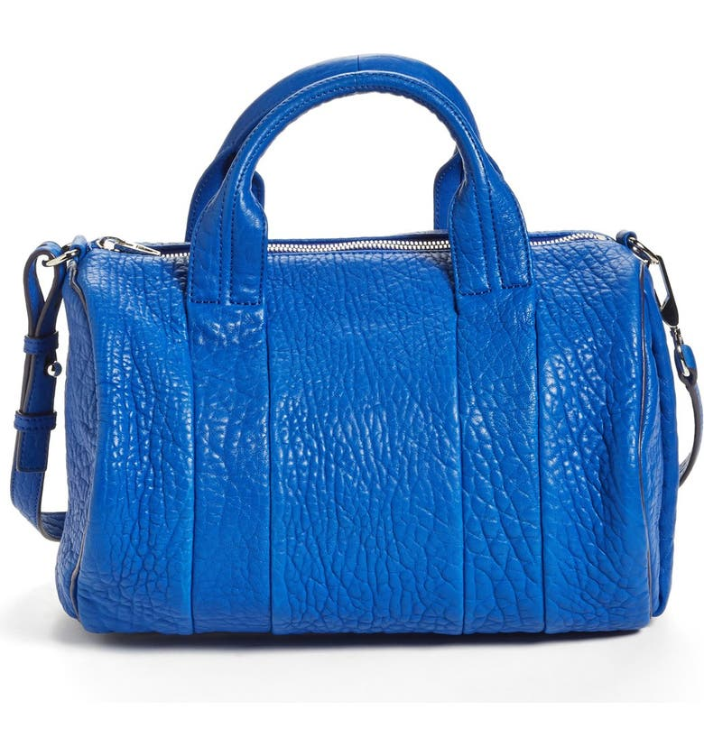 ALEXANDER WANG 'Rocco - Dumbo Nickel' Lambskin Leather Satchel, Main, color, 400