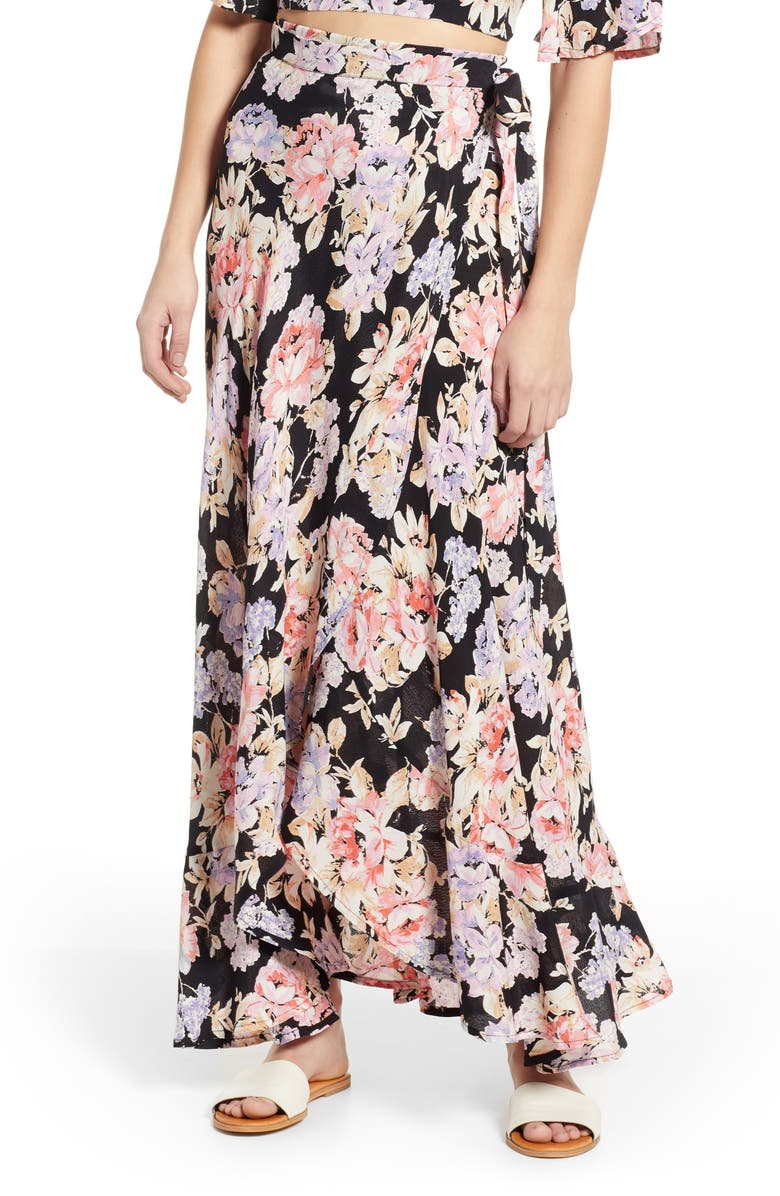BAND OF GYPSIES Seville Wrap Skirt, Main, color, 006