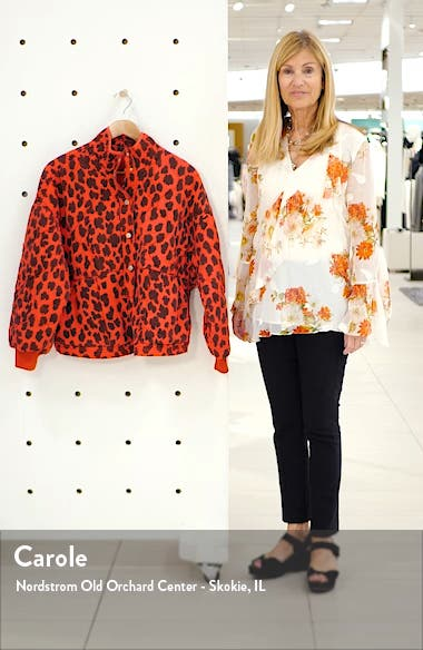 Leopard Print Quilted Jacket, sales video thumbnail