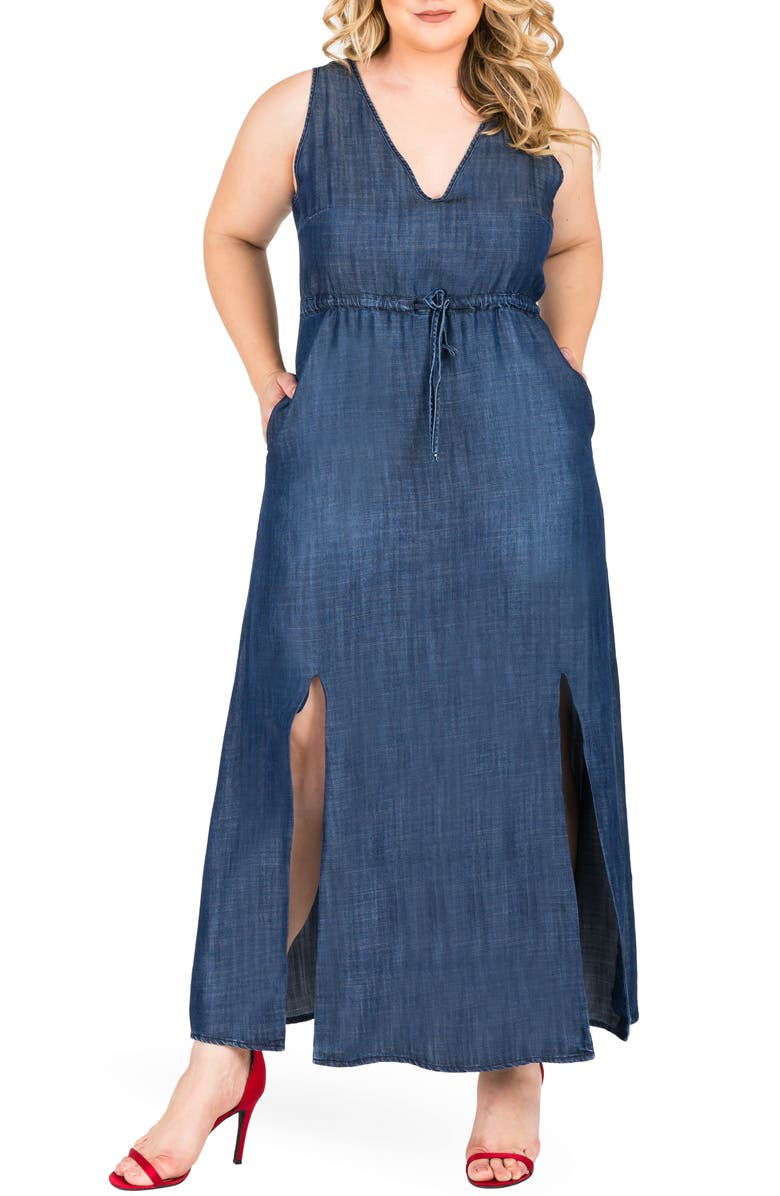 Standards & Practices Amber Maxi Chambray Dress (Plus Size ...