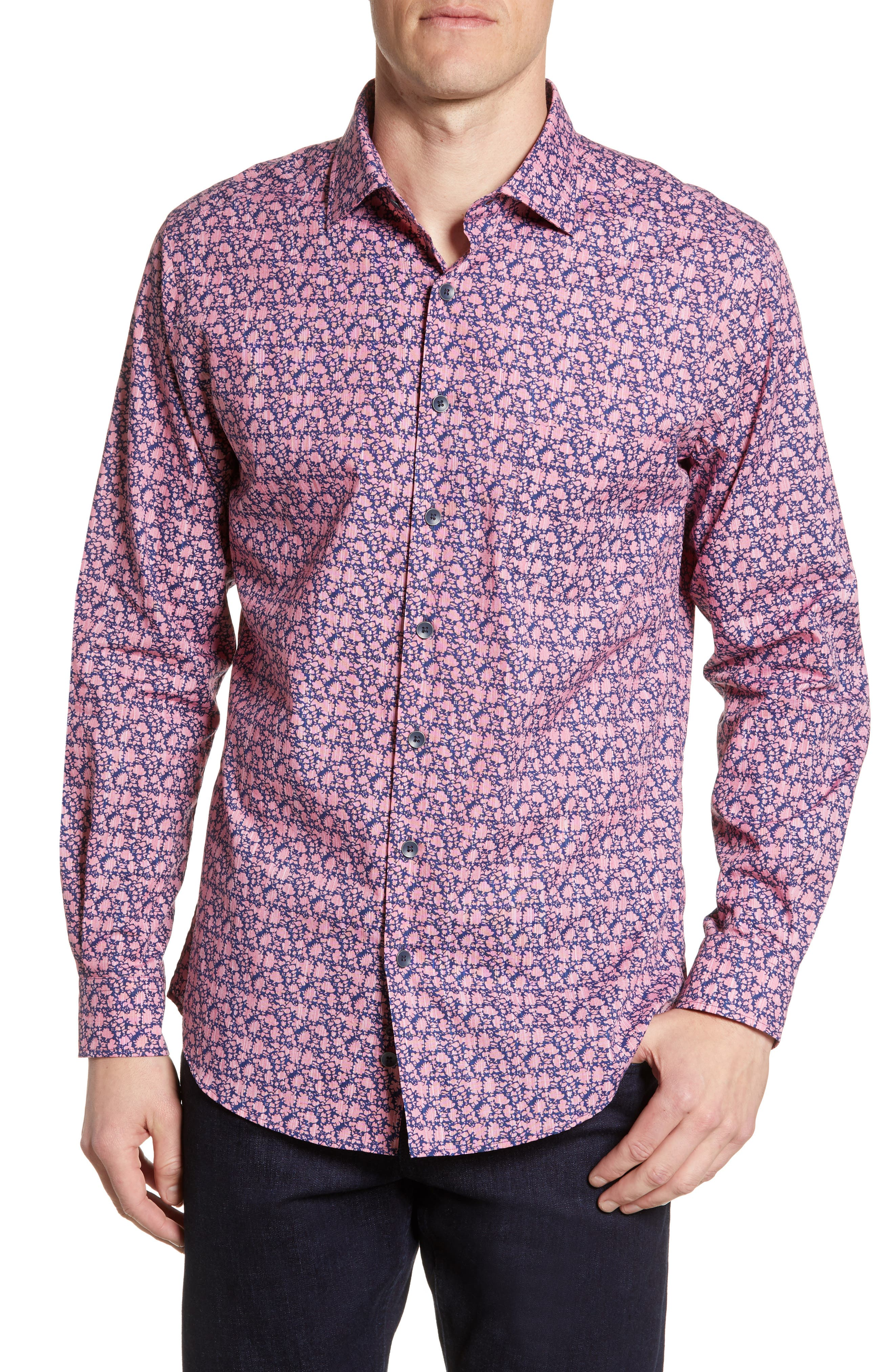 Image of RODD AND GUNN The Racecourse Floral Regular Fit Shirt