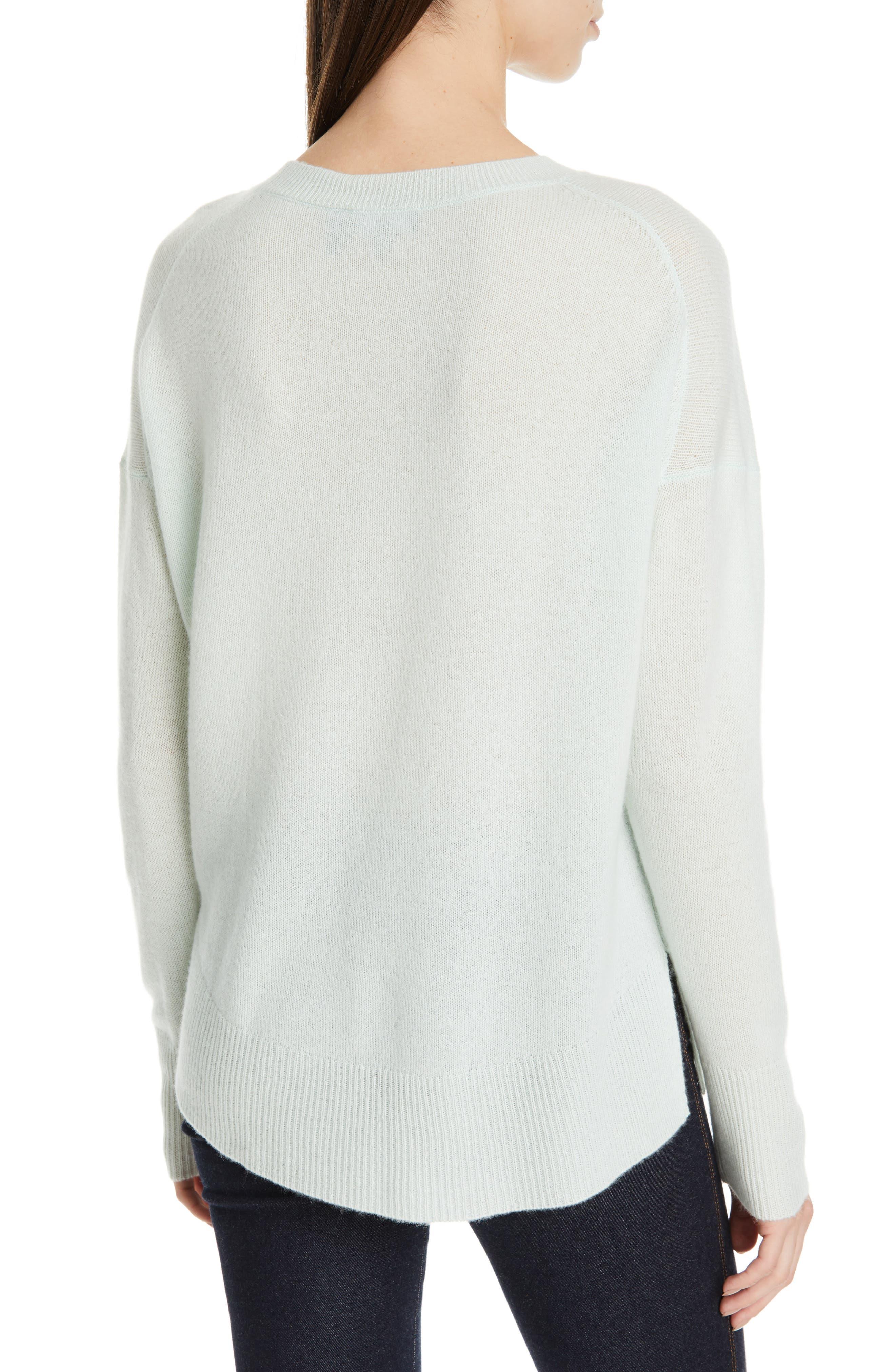 ,                             Karenia Long Sleeve Cashmere Sweater,                             Alternate thumbnail 2, color,                             OPAL GREEN