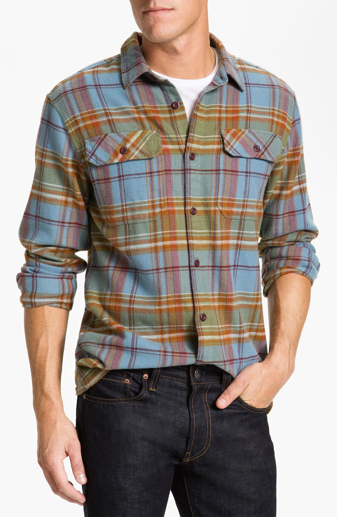 ,                             'Fjord' Regular Fit Organic Cotton Flannel Shirt,                             Main thumbnail 96, color,                             300