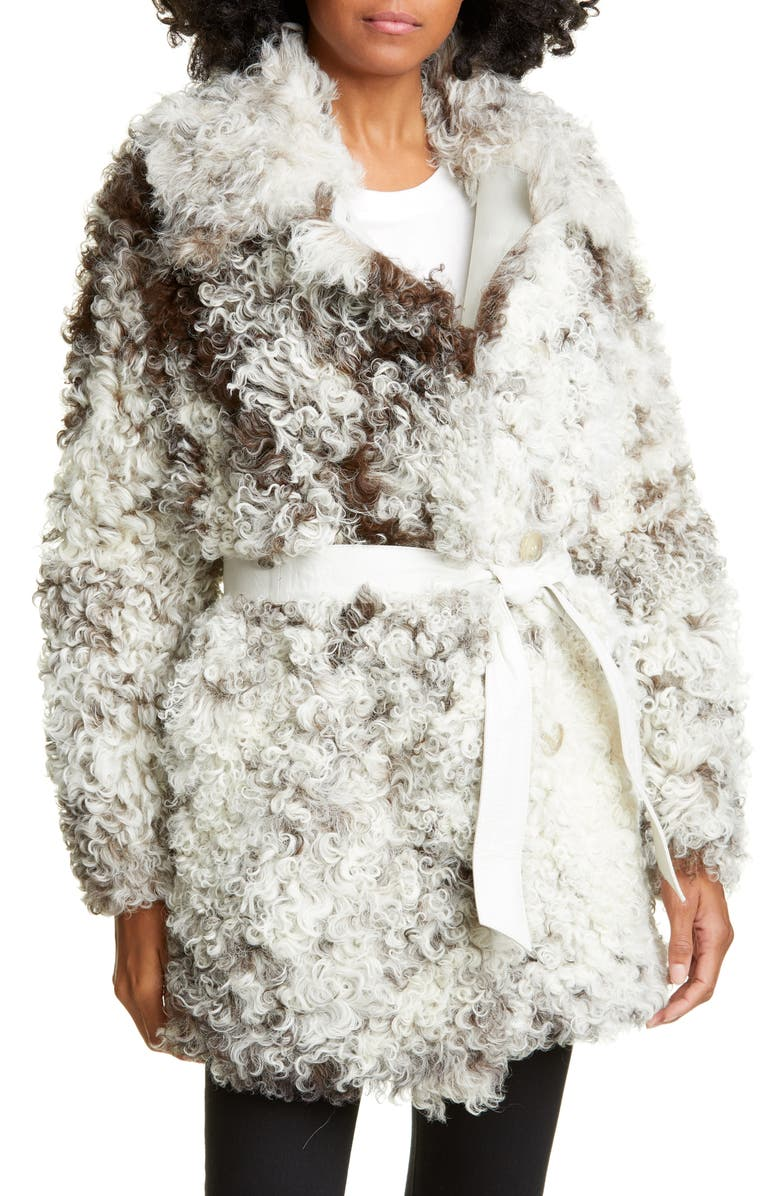 ANNE VEST Nadal Genuine Shearling Jacket, Main, color, 020