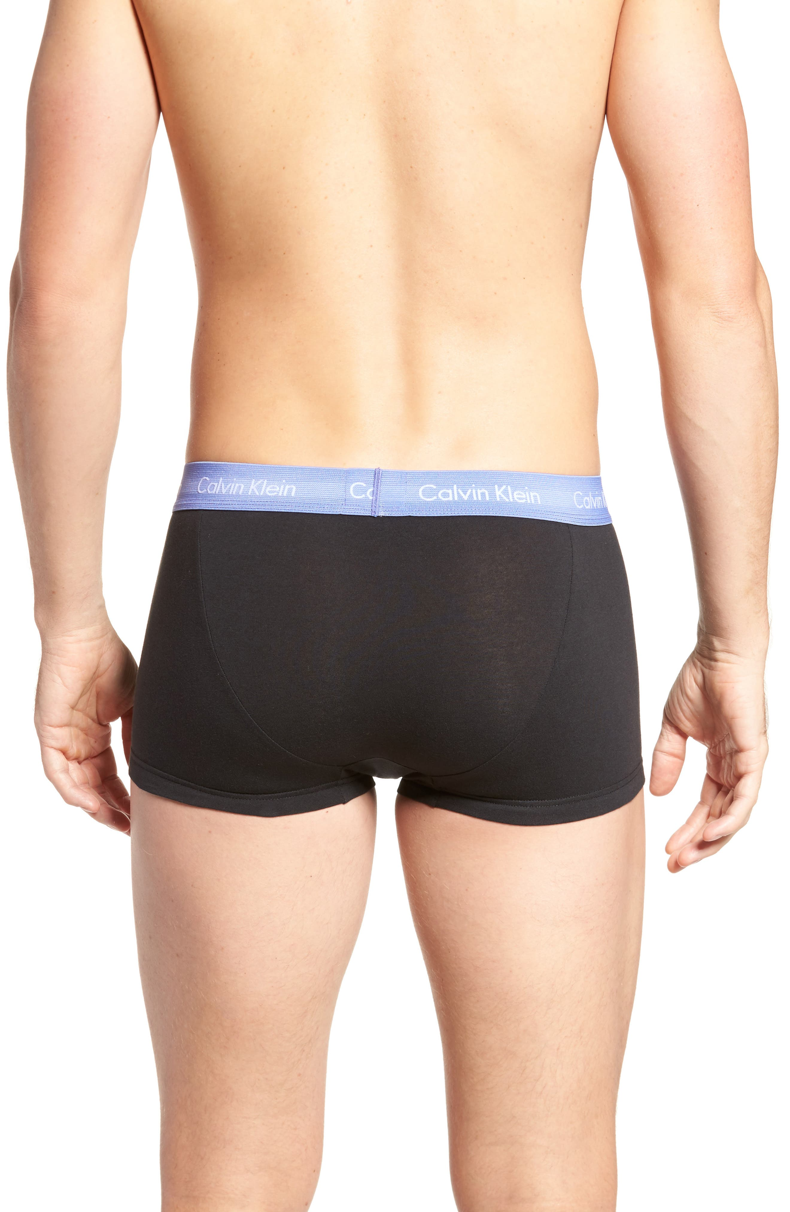 ,                             3-Pack Stretch Cotton Low Rise Trunks,                             Alternate thumbnail 57, color,                             015