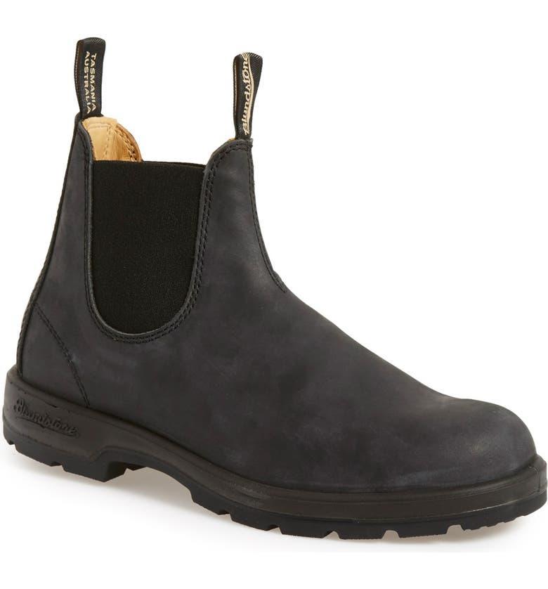 BLUNDSTONE FOOTWEAR Chelsea Boot, Main, color, RUSTIC BLACK