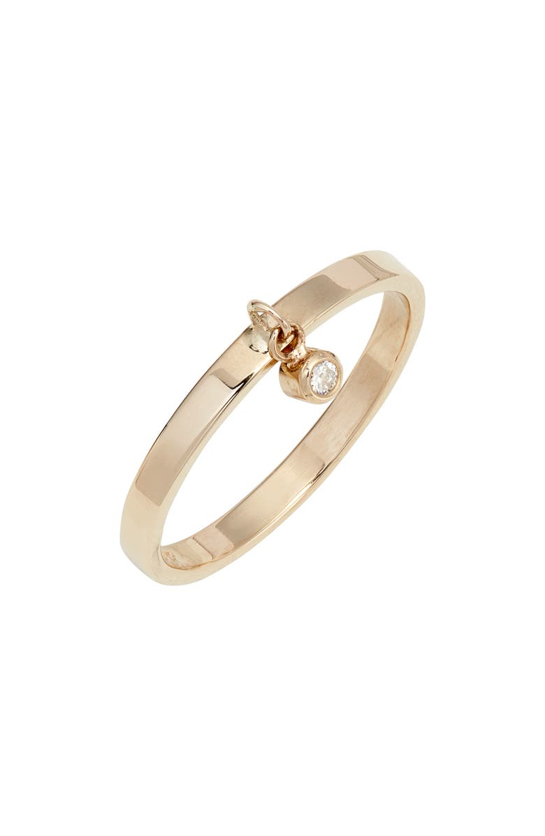 POPPY FINCH Diamond Dangle Ring, Main, color, GOLD/ DIAMOND