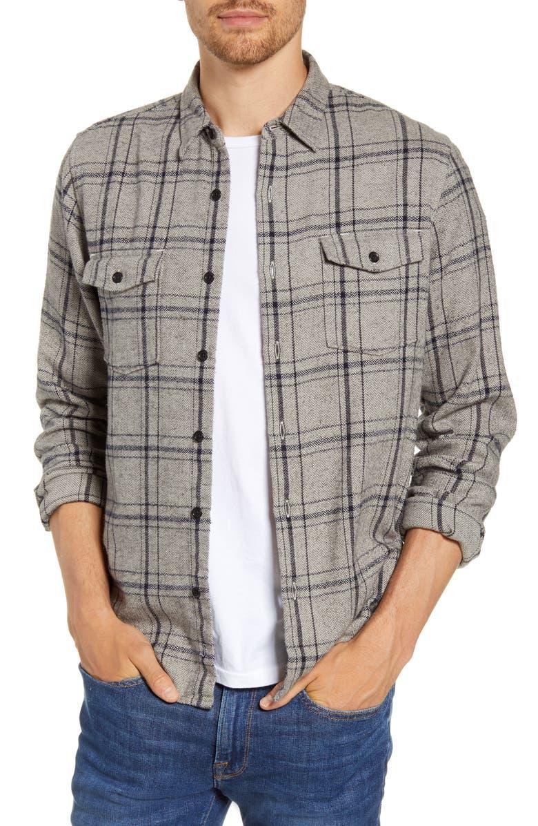 FRAME Classic Fit Double Flap Pocket Shirt, Main, color, GRIS MULTI