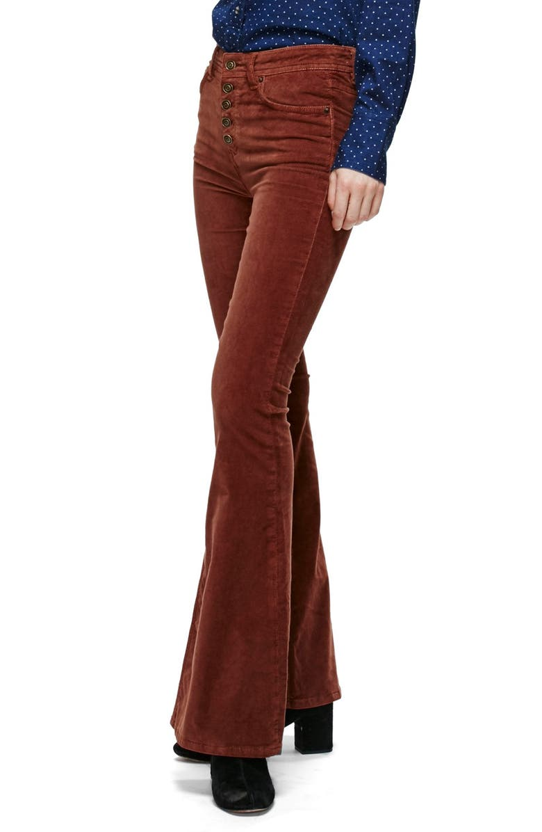 FREE PEOPLE Stretch Corduroy Pants, Main, color, 204