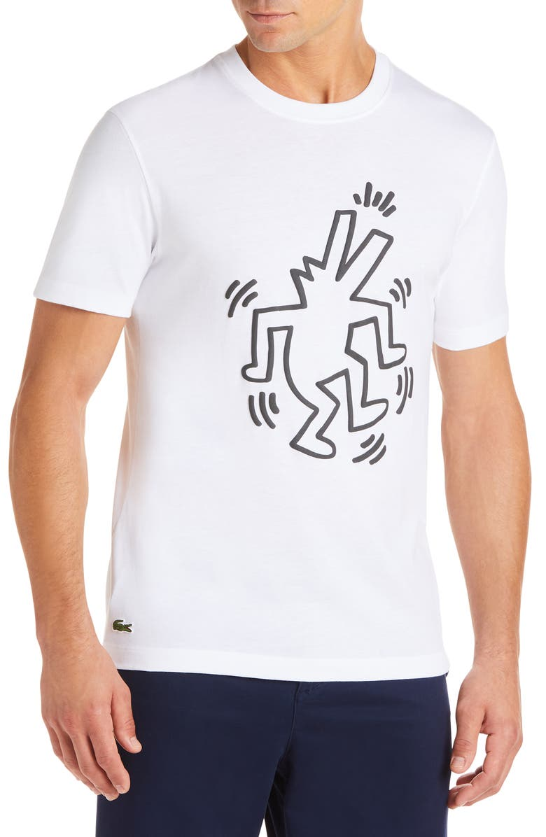 LACOSTE x Keith Haring Regular Fit Graphic T-Shirt, Main, color, 100