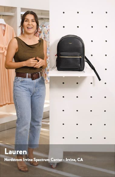 Perry Leather Backpack, sales video thumbnail