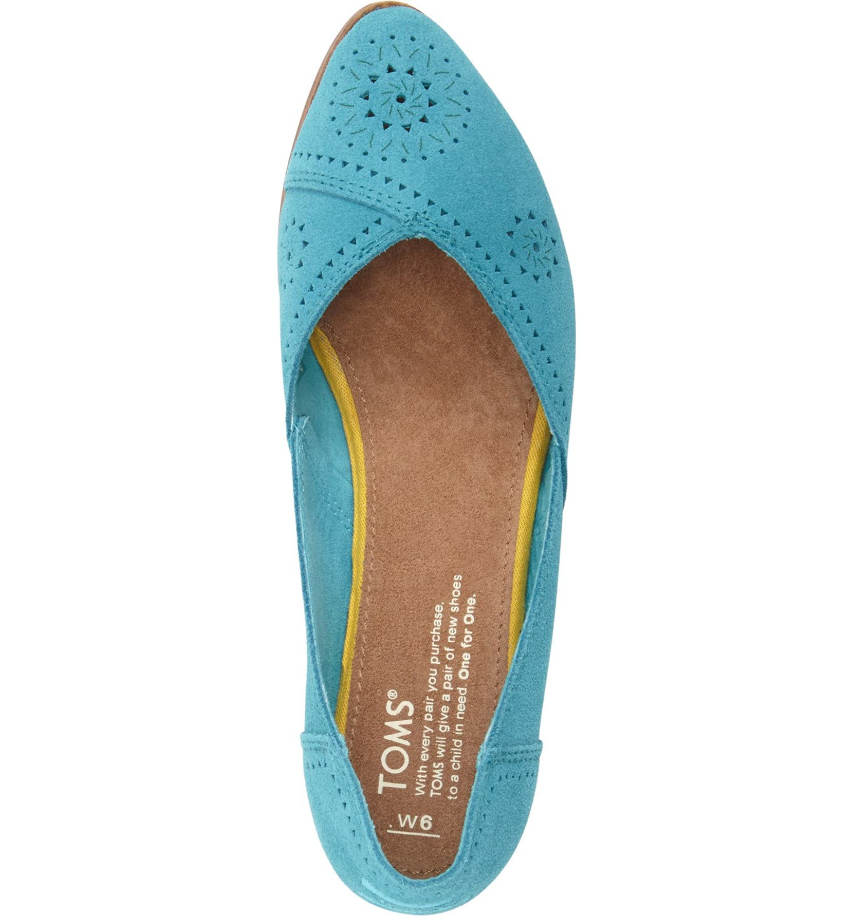 16d956497 TOMS 'Jutti' Perforated Pointy Toe Flat (Women) | Nordstrom